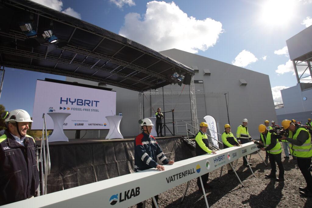 Starten av HYBRIT:s pilotanläggning för direktreduktion med vätgas